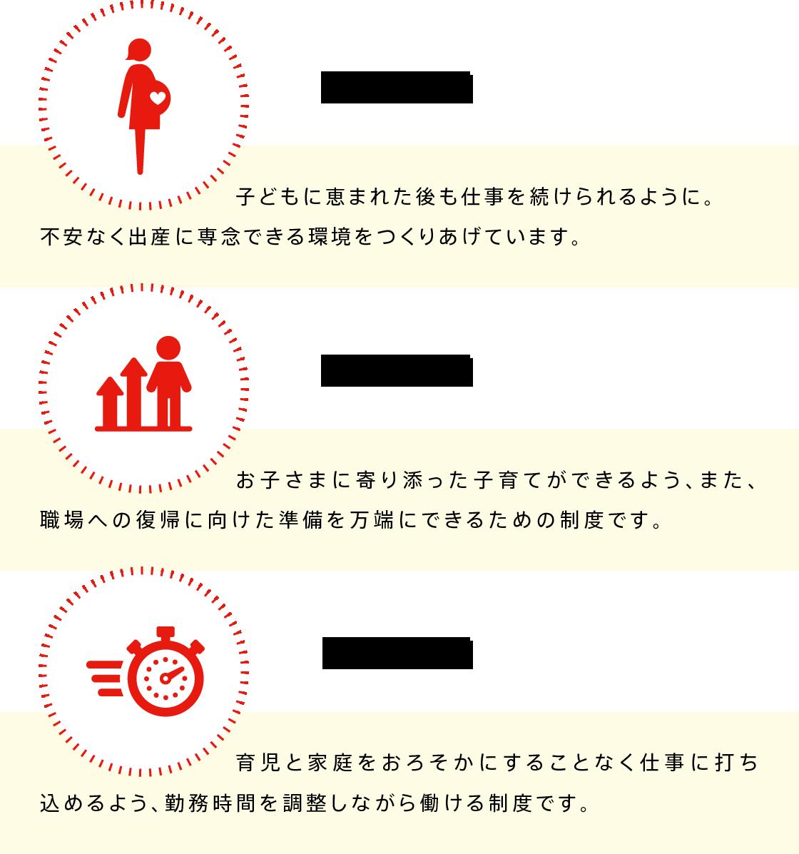 女性が安心して働ける制度